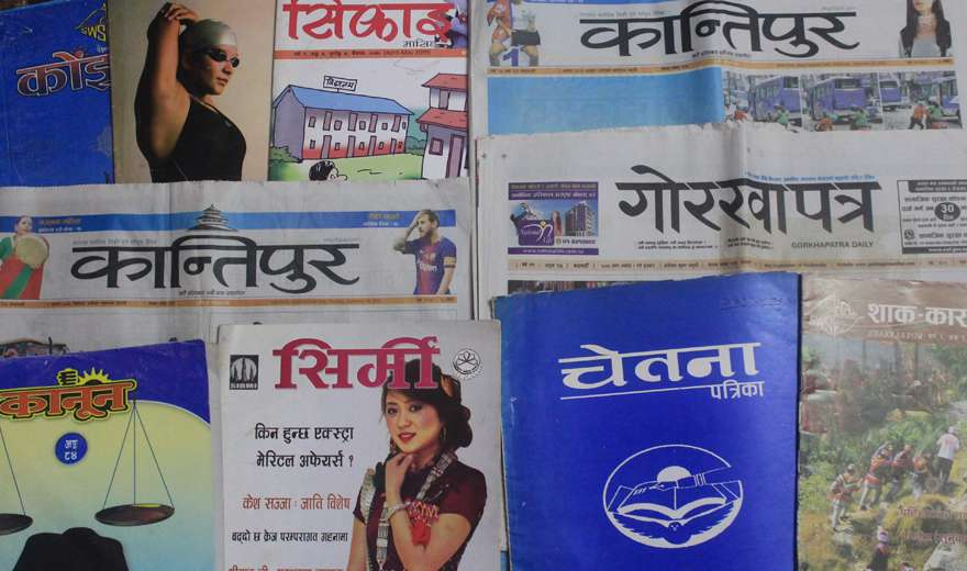 नेपाली मिडियाको सामाग्रीमा साम्प्रादायिक तस्विर